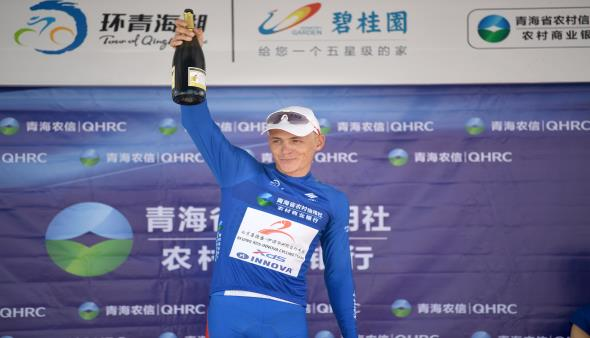 At the end of the 2018 tour of Qinghai Lake Ring Race, XDS cyclist  David Denock won the best in